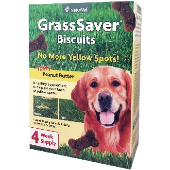NaturVet GrassSaver Biscuits for Dogs, Tasty Peanut Butter, 11.1 oz