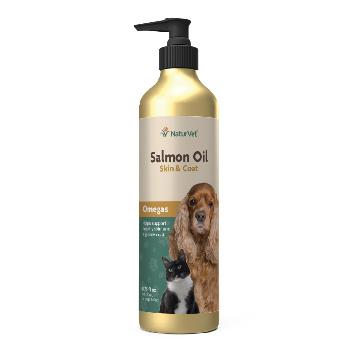 NaturVet Salmon Oil Plus Omegas for Dogs and Cats 8.75 oz