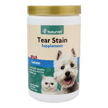 NaturVet Tear Stain Supplement Powder Plus Lutein for Dogs and Cats, 7 ounces, 200 grams