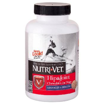 Nutri-Vet Hip & Joint Advanced Strength Chewable Tablets for Dogs, 90 count