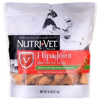 Nutri-Vet Hip & Joint Biscuits peanut-butter flavored 6 lbs