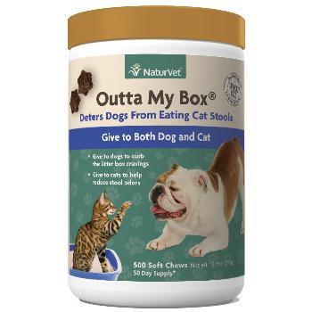 NaturVet Outta My Box Stool Deterrant for Dogs and Cats 500 chews