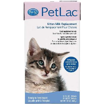 PetAg PetLac Kitten Milk Replacement Liquid, 32 oz
