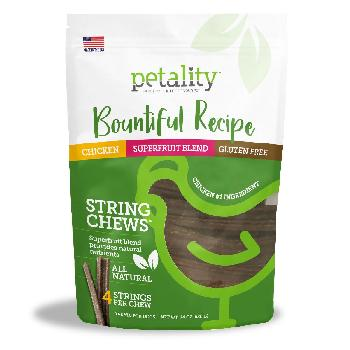 Petality Bountiful Recipe String Chews for Dogs, 24 ounces