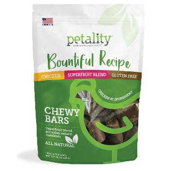 Petality Bountiful Recipe Chew Bars for Dogs, 24 ounces