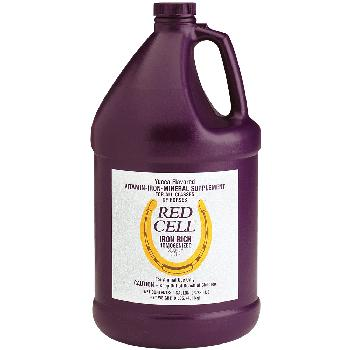 Red Cell Liquid Vitamin-Iron-Mineral Supplement for Horses 1 gallon bottle
