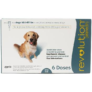 Revolution Dogs 40.1–85 lbs, 6 doses, 240 mg selamectin