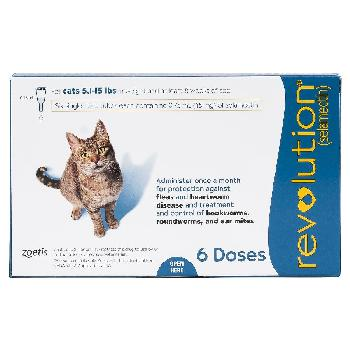 Revolution Cats 5.1–15 lbs, 6 doses, 45 mg selamectin