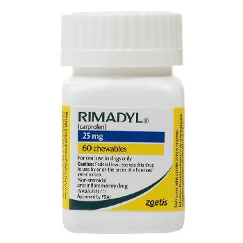 Rx Rimadyl (Carprofen) Chewable Tablets for Dogs, 25 mg, 60 count