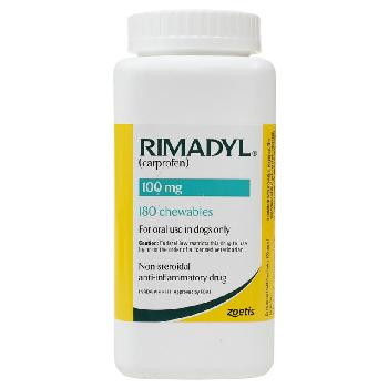 Rx Rimadyl (Carprofen) Chewable Tablets for Dogs, 100 mg, 180 count