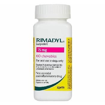 Rx Rimadyl (Carprofen) Chewable Tablets for Dogs, 75 mg, 60 count