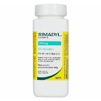 Rx Rimadyl (Carprofen) Chewable Tablets for Dogs, 100 mg, 60 count