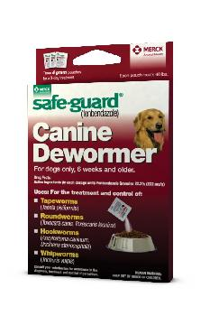 Safe Guard Canine Dewormer 4g X 3 Dose