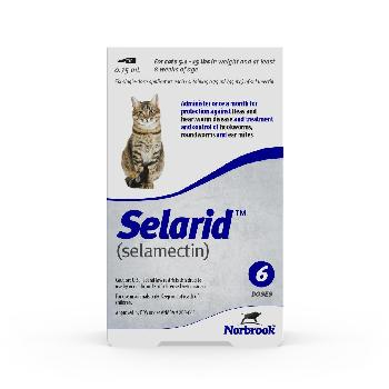 Selarid (selamectin) Topical Parasiticide for Cats 5.1-15 lbs, 6 count