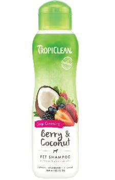 TropiClean Berry & Coconut Pet Shampoo, Deep Cleaning, 20 ounces