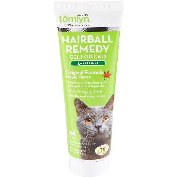 Tomlyn Laxatone Hairball Remedy Gel for Cats, Maple Flavored, 4.25 oz