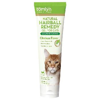 Tomlyn Laxatone Natural Hairball Remedy Gel Chicken Flavor Cat Supplement, 4.25-oz tube