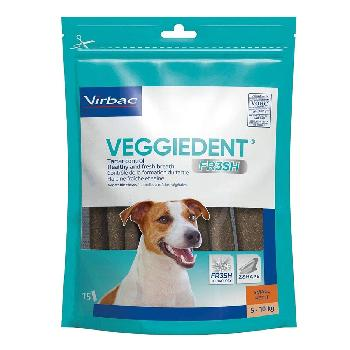C.E.T. Veggiedent Fr3sh Tartar Control Chews for Medium Dogs, 22 - 66 pounds, 30 count