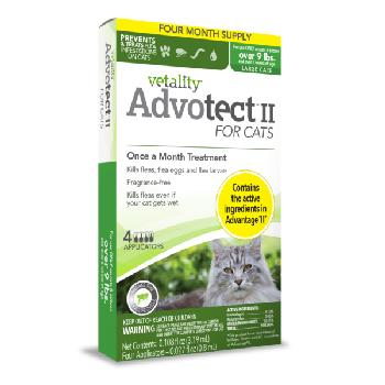 Vetality Advotect II for Cats, Over 9 lbs, 6 doses