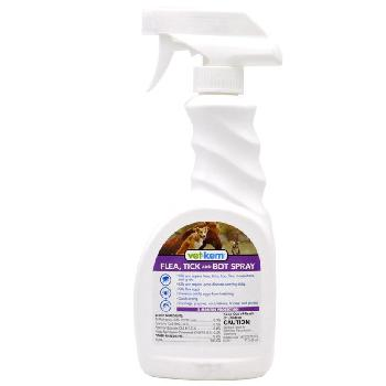 Vet-Kem Flea, Tick and Bot Spray for Dogs, Cats and Horses 16 oz