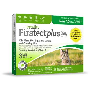 Vetality Firstect Plus For Cats over 1.5 lbs., 3 doses