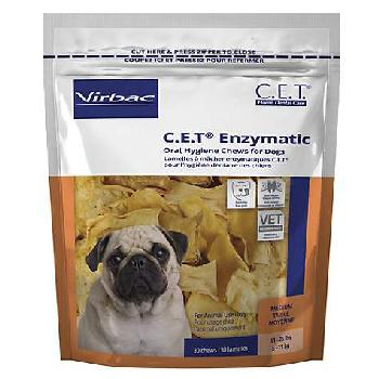 C.E.T. Enzymatic Oral Hygiene Chews for Medium Dogs, 11-25 pounds, 30 count