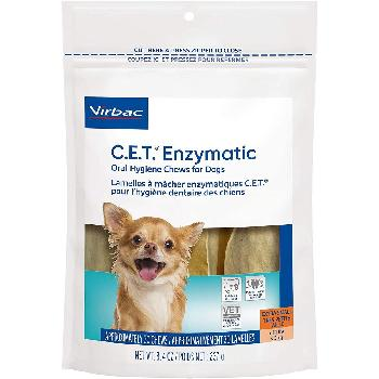 C.E.T. Enzymatic Oral Hygiene Chews for Dogs, up to 11 pounds, 30 count
