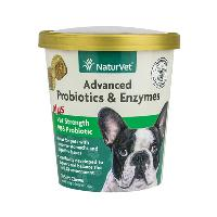 NaturVet Advanced Probiotics and Enzymes Soft Chews + PB6 70 ct