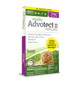 Vetality Advotect II for Cats Over 9 lbs 6 dose