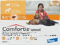 Rx Comfortis Tabs 11-20 lb Dog and 6-12 lb Cat Orange 6 Dose