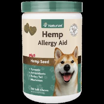 Naturvet Hemp Allergy Aid Soft Chews 120 count