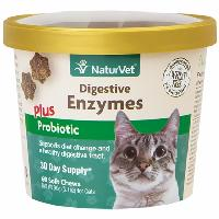 NaturVet® Digestive Enzymes Plus Probiotics for Cats 60 ct Soft Chews
