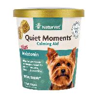 NaturVet Quiet Moments Calming Aid Plus Melatonin for Dogs Soft Chews 70 ct