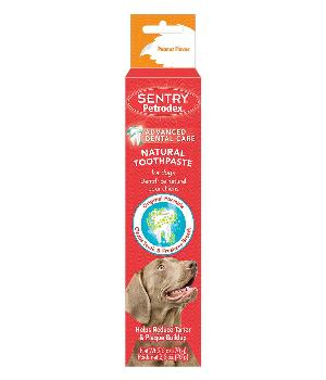 Sentry Petrodex Natural Toothpaste for Dogs, Peanut Flavor, 2.5 Ounces