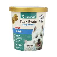 NaturVet Tear Stain Plus Lutein Supplement Soft Chews 70 ct