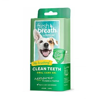 TropiClean Fresh Breath Plaque Remover Pet Clean Teeth Gel 4 oz